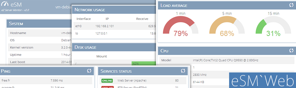 eZ Server Monitor Web - Dashboard